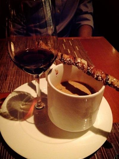 affogato: chocolate cinnamon gelato, espresso, amaro cio ciaro