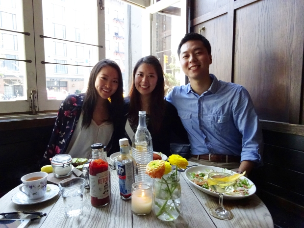 The Brunch Crew (from left to right: Stephanie, me, Kevin)