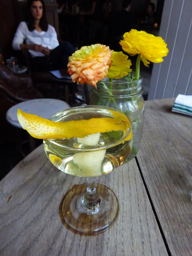The AWC: Sparkling Wine, St. Germain, Fee's Orange Bitters - Coupe