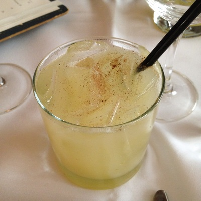 Honey Moon: Manhattan moonshine, pear purée, honey-vanilla syrup