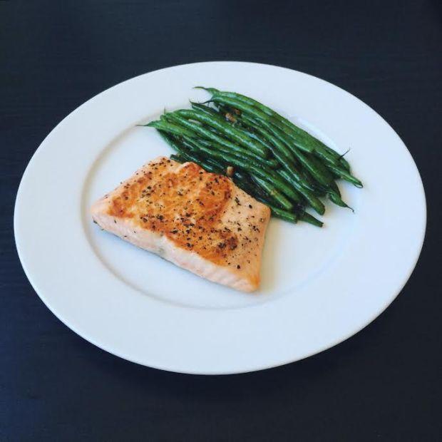 salmon greens
